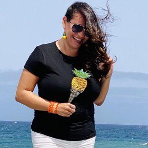 camiseta helado de piña natural