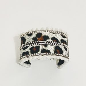 PULSERA ANIMAL PRINT CON STRASS