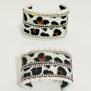 PULSERAS ANIMAL PRINT CON STRASS